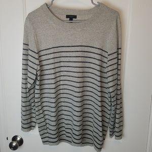 J. Crew Merino Wool Striped Sweater 3/4 Sleeve
